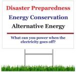 Disaster Preparedness - VistaPrint Lawn Sign